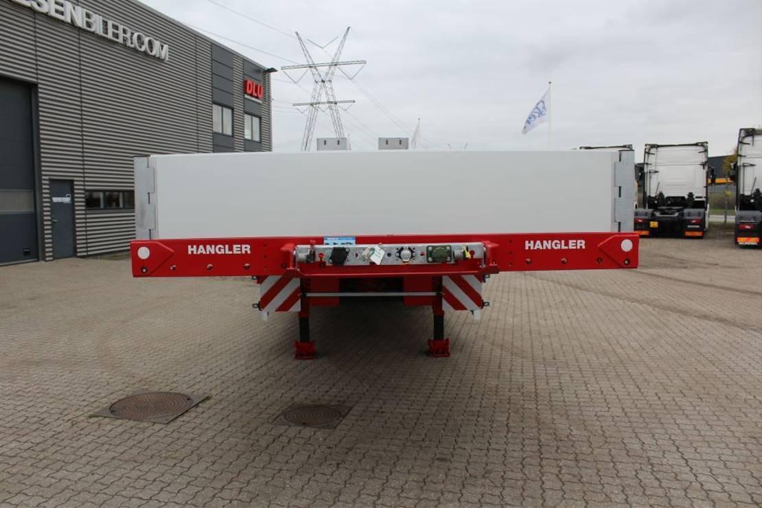 semi dieplader oplegger Hangler 3-axle machinery trailer
