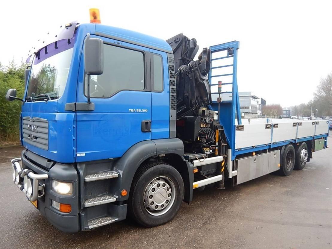 kraanwagen MAN tga 26.310 only 204.000 km !!! hiab 350-4 radiocontrol 26.310 2003