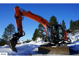 rupsgraafmachine Hitachi ZX135US-5B Excavator with GPS, Rotor tilt and 2 bu 2015