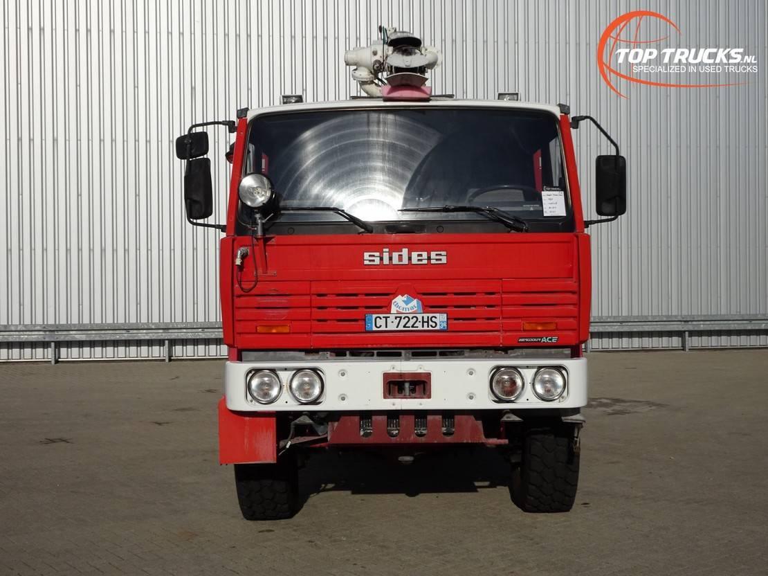 brandweerwagen vrachtwagen Renault Thomas Sides VMA 68 6x6 Foam Crash-tender, Airport, Flughaven, Feuerwehr... 1995