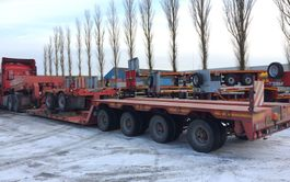 semi dieplader oplegger Faymonville 2+4 lowbed  very low bed 1994