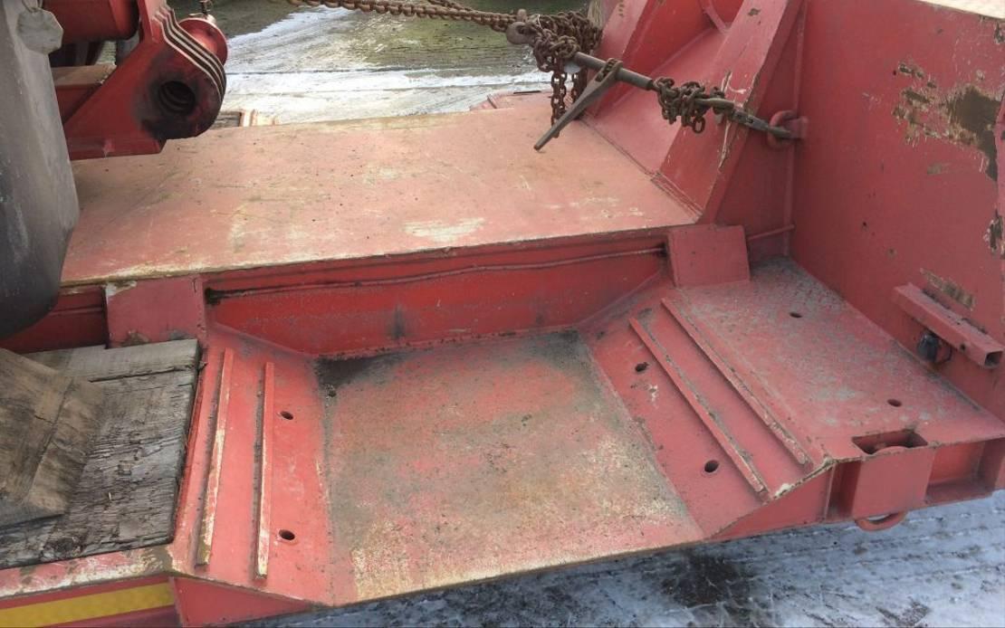 semi dieplader oplegger Faymonville 2+4 lowbed  very low bed 1994