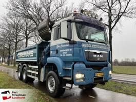 kipper vrachtwagen > 7.5 t MAN TGS 26.440 6X6 BB kipper met HMF 1643 Z kraan 2009