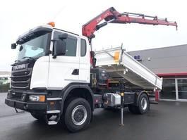 kraanwagen Scania G490-4X4-RETARDER-HIAB X-188ES-4-RADIOSTURING-3ZIJDIGE KIPPER-ALS NIEUW!! 2015