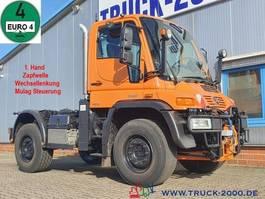 chassis cabine vrachtwagen Unimog U 400 4x4 Mähwerkst. Zapfwelle Wechsellenkung 2008