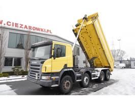 kipper vrachtwagen > 7.5 t Scania P400 , E5 , 8x4 , manual , 18m3 , low cab , A/C 2012