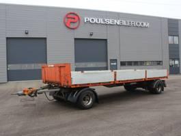 platte aanhanger vrachtwagen Lecitrailer 2-axle 18.000kg hardwood floor