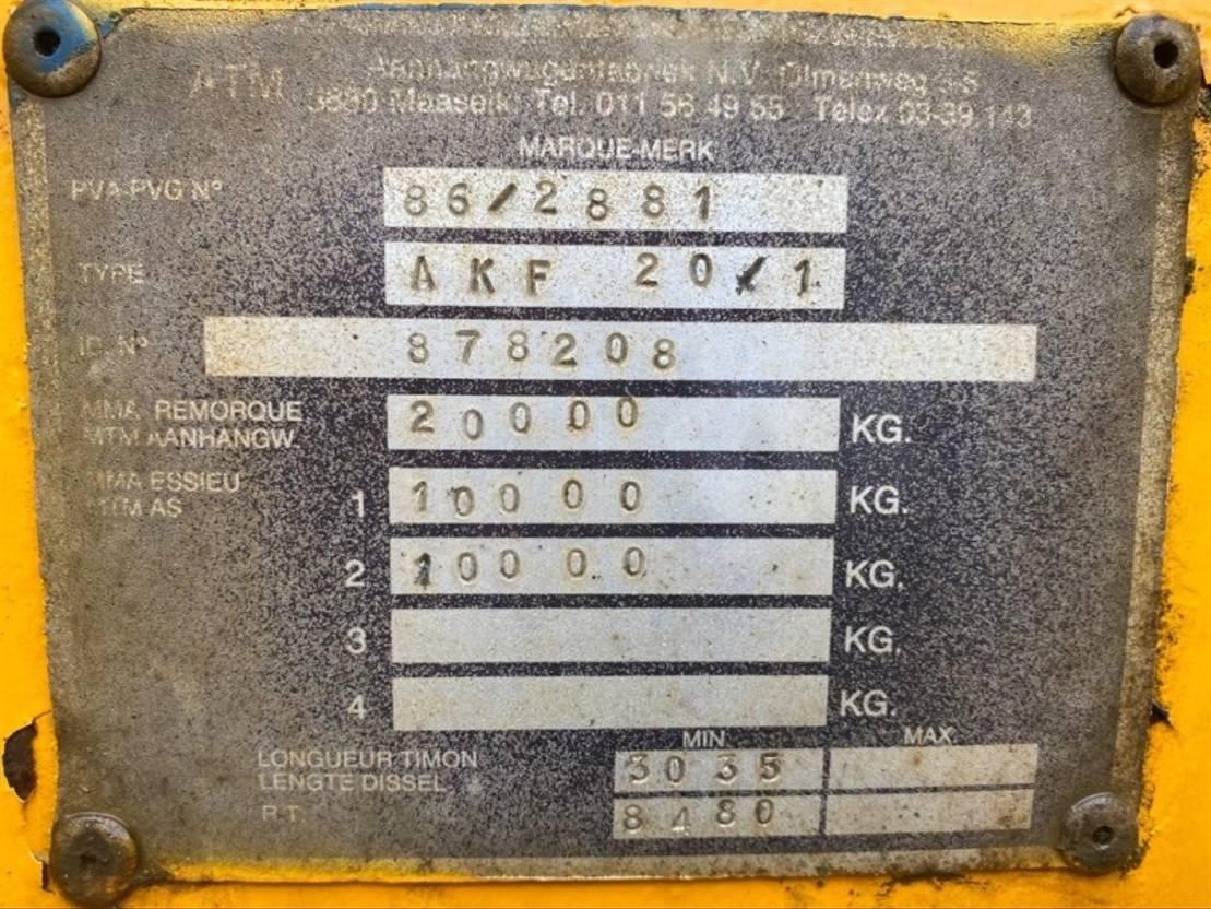 kipper aanhanger ATM AKF 20/1 1987
