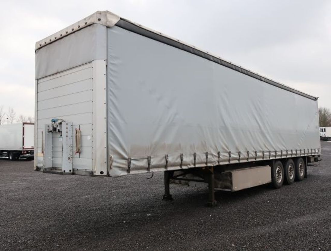 huifzeil aanhanger Schmitz Cargobull SCS 24 Palettenkasten LBW 2007