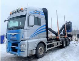 houttransporter vrachtwagen MAN TGX 26.560 Euro 6, Timber-truck + Epsilon M110, 2015 *Expected* 2015
