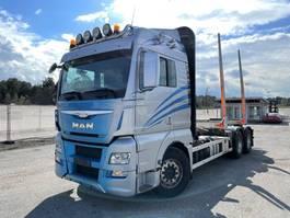 houttransporter vrachtwagen MAN TGX 26 6x4, Euro 6, Retarder, Timber-truck, 2015 2015
