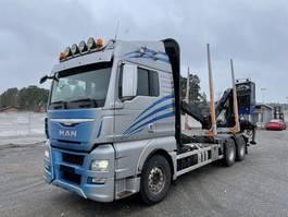 houttransporter vrachtwagen MAN TGX 26.560 Euro 6, Timber-truck + Epsilon M110, 2015 2015