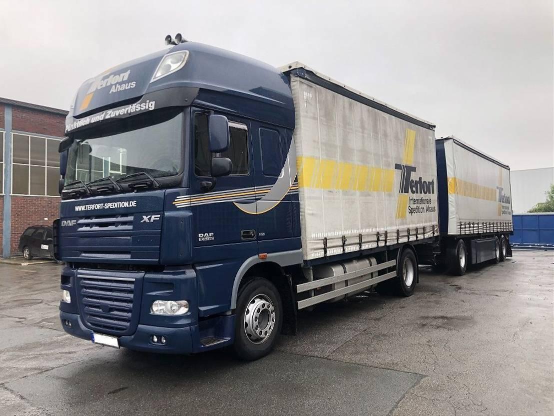 open laadbak vrachtwagen DAF FA XF105.460SSC EVV, ACC, Intarder, 90 m³ 2012