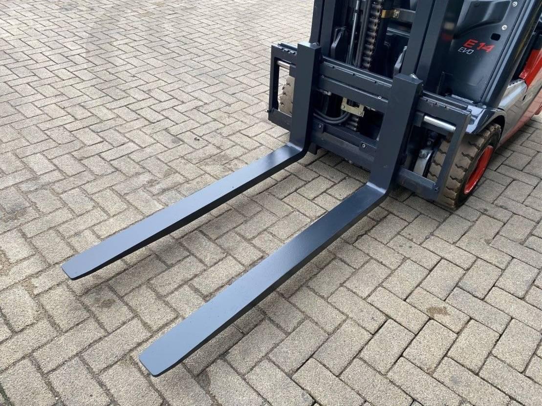 vorkheftruck Linde E14-02 1.4 Ton Triplo Freelift Sideshift Elektra Heftruck 2014