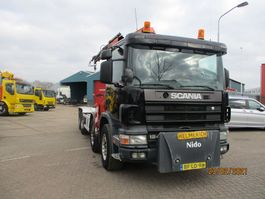 containersysteem vrachtwagen Scania 124 360 EURO 2 8X2 FULLSTEELSUSPENSION 1997