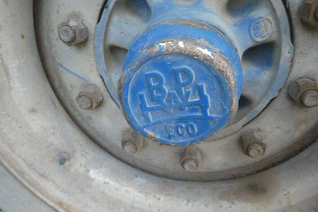platte aanhanger vrachtwagen Blomenröhr Tandempritschenanhänger Containeranhänger 1999