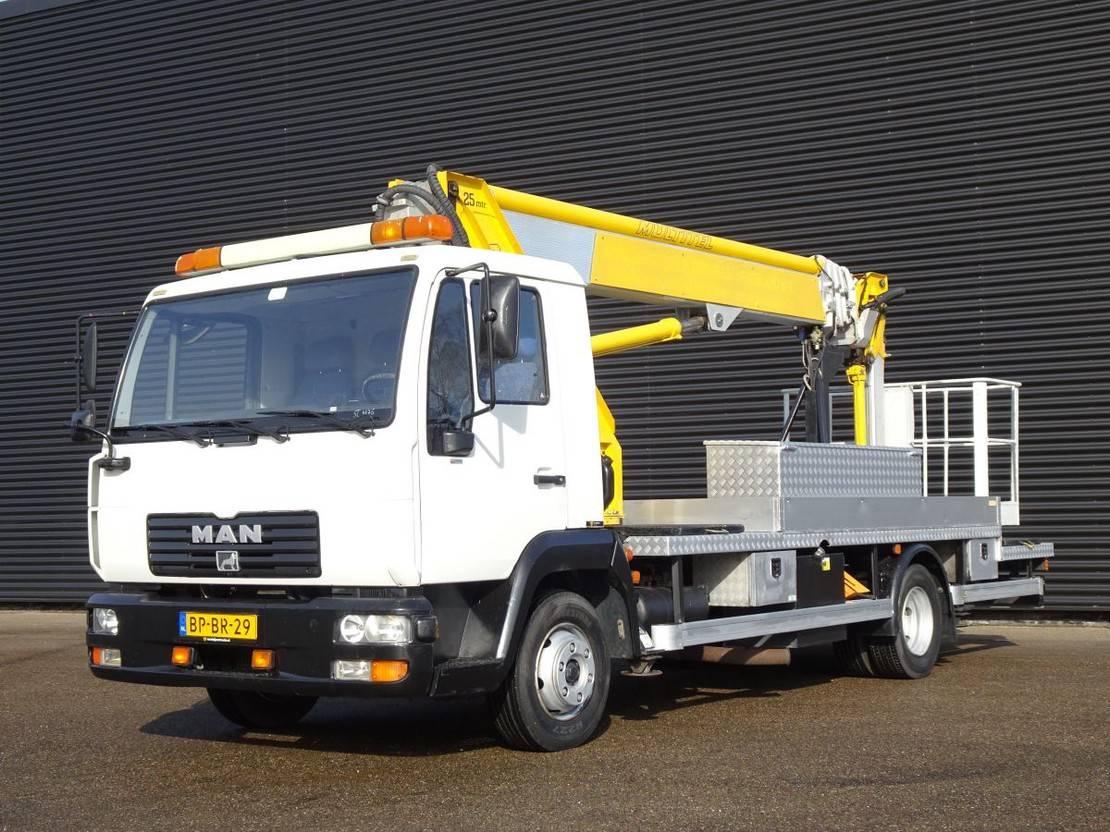 autohoogwerker vrachtwagen MAN L20 / PLATFORMWORKER / HUBARBEITSBUHNE 25 MTR 2003