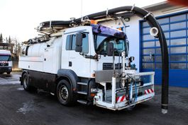 kolkenzuiger vrachtwagen MAN TGA 18.310 4x2 Wiedemann 8m³ Saug u. Spül Druckfahrzeug Kipper V2A Edelstahl 2005