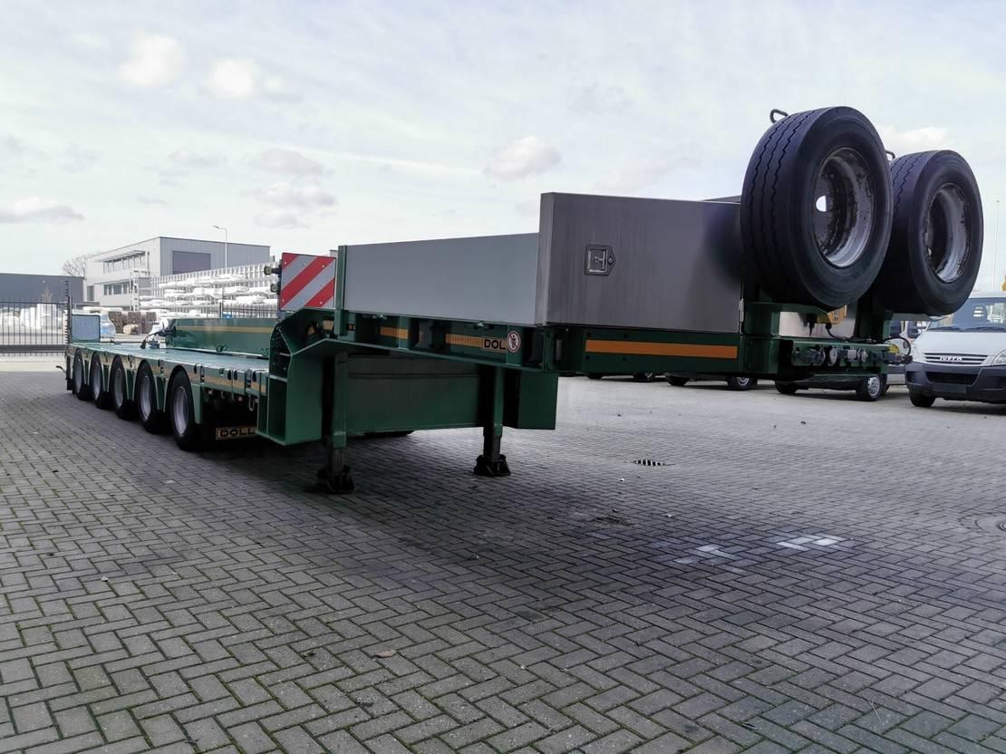 semi dieplader oplegger Doll S5H-T Powersteering 22.3 Meter extandable! 2007