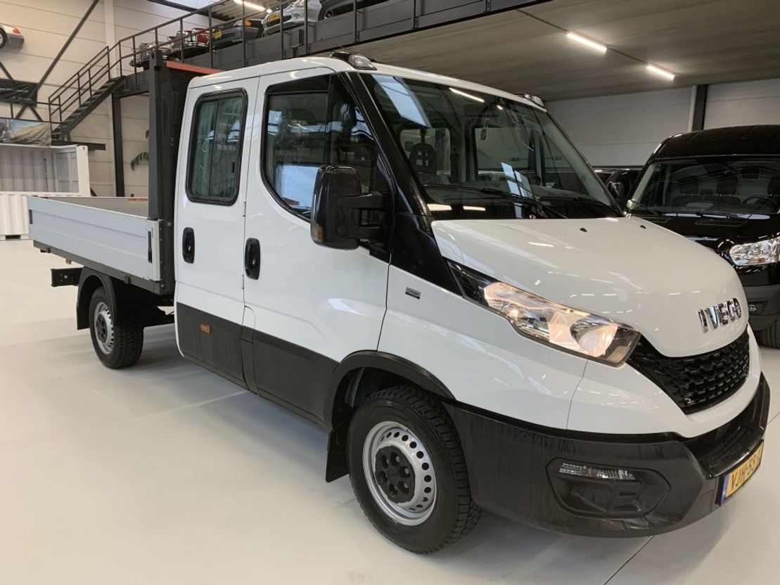 open laadbak bedrijfswagen Iveco 35s12 Daily Openlaadbak Airco Dubb cabb 120PK Nieuw 2021