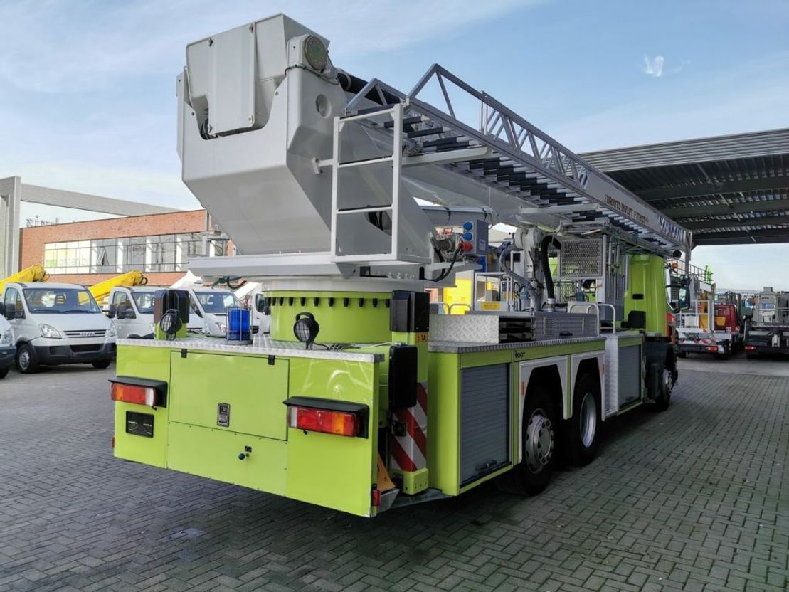 brandweerwagen vrachtwagen Scania 124L 420 6x2 Bronto Skylift F37 HDT 2000 Topcondition! 2000