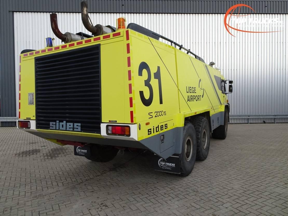 brandweerwagen vrachtwagen Sides 35.750 GM 6x6 - S2000.15 - Crashtender, Airport Fire Truck, Flughaven - ... 1997