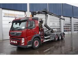 containersysteem vrachtwagen Volvo FM 420 8x2 Euro 5 Hiab 7 ton/meter laadkraan 2012