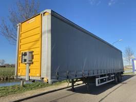 schuifzeil oplegger Fruehauf 2-Axle Tautliner / Steering Axle / Loading lift / APK 2001