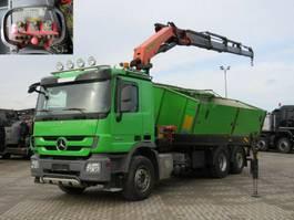 kipper vrachtwagen > 7.5 t Mercedes-Benz Actros 2544 L6x2 3-Achs Kipper Kran Funk+Greifer 2012