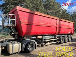 kipper oplegger Schmitz Cargobull 56m³ - SKI 24 - 10,2m - 3-AXLES BPW STEEL TIPPER / STAAL KIPPER / STAHL KIPMULDE /  BENNE ACIER --- SCHROOTKIPPER / TIPPER FOR SCRAP METALS / KIPPER FUR METALSCHORT / BENNE POUR FERAILLES 2008