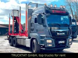 houttransporter vrachtwagen MAN TGS 26.500 6x4, EPSILON M12Z, ExTe, 1-A Zustand 2017