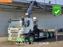 containersysteem vrachtwagen Scania P380 8X2 NL-Truck 2x Lift+Lenkachse Euro 5 Hiab 211 EP-3 Hipro 2007