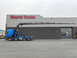 kraanwagen Scania R560-V8 8X2 TREKKER/BAKWAGEN + HIAB 477E-8 HIPRO KRAAN/KRAN/CRANE/GRUA 2013