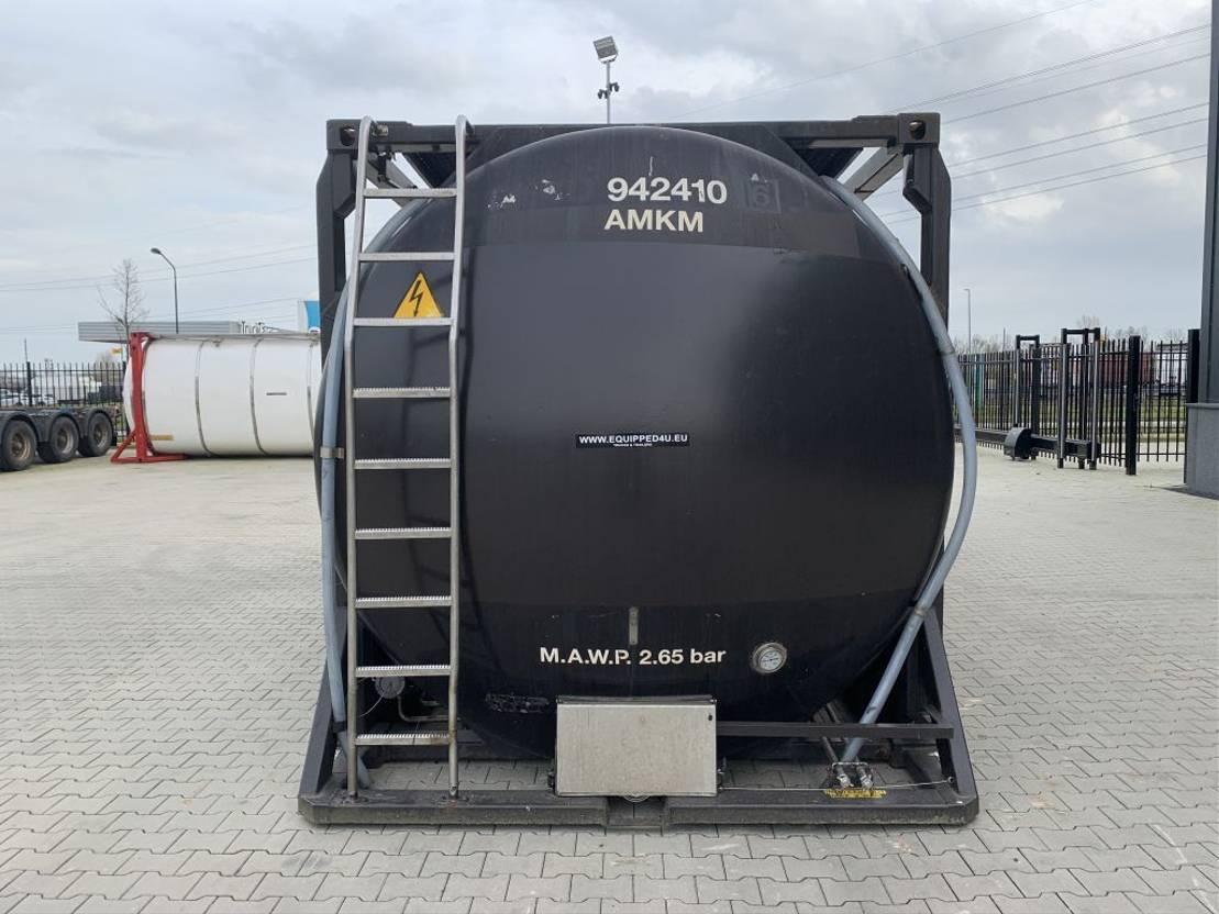 tankcontainer Van Hool 20FT, swapbody 2 comp., 30.500L, L4BH, bottom + topdischarge 1995