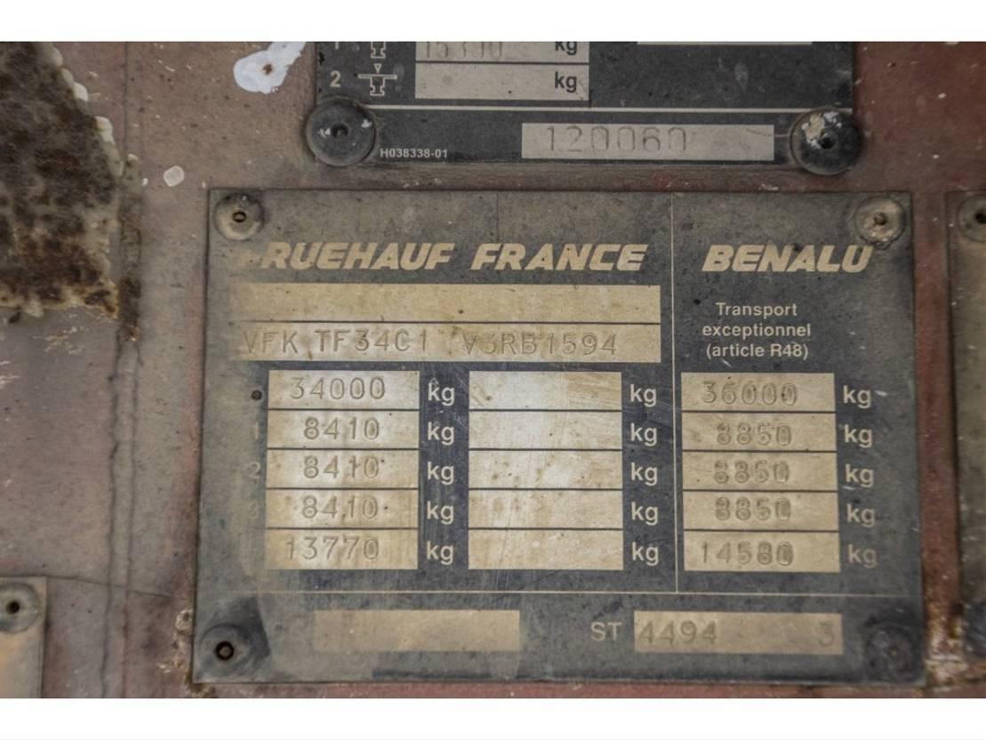 vee oplegger Fruehauf TF 34 1997