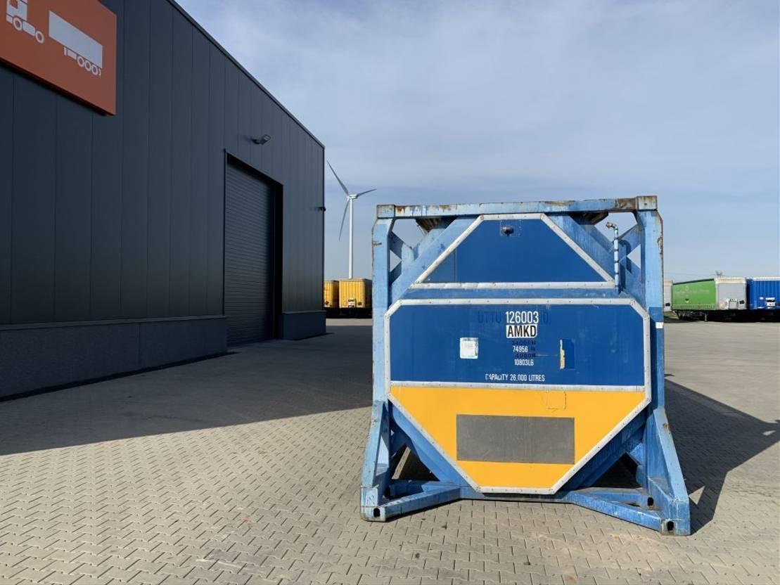 tankcontainer Diversen 20FT, swapbody, 26.110L TC, 1 comp., UNPORTABLE, T7, CSC until: 08-2023 2000