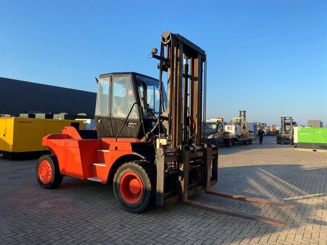 vorkheftruck Linde H120 12 ton Diesel Sideshift Positioner Diesel Heftruck 2002