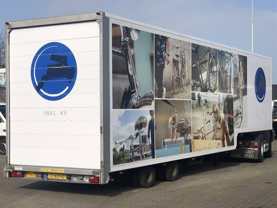 semi dieplader oplegger Van Eck GESLOTEN 2-AS SEMI MET STUUR-ASSEN 2006