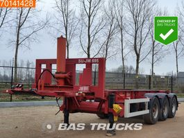 container chassis oplegger Van Hool 20Ft. Kippchassis 3 axles Liftachse 24v Kipphydraulic 1993