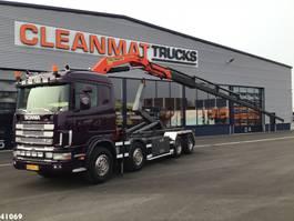 containersysteem vrachtwagen Scania R164-480 V8 8x4 Palfinger 23 ton/meter laadkraan 2002