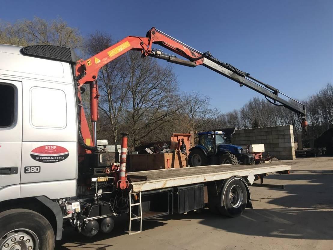 open laadbak vrachtwagen Volvo FH12-380 **PALFINGER PK10500-FRENCH TRUCK** 1997