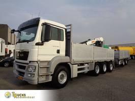 platform vrachtwagen MAN TGS 35.440 Combi + Euro 5 + PTO + Manual + HMF Crane + Pacton PCB-24 2013