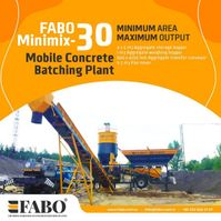 betonmixinstallatie FABO MOBILE CONCRETE PLANT CONTAINER TYPE 30 M3/H FABO MINIMIX 2021