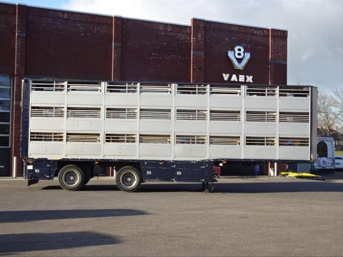 vee oplegger Lako Knapen 3 Stock Livestock Trailer, NEW TUV/APK 1997