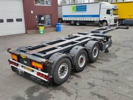 container chassis oplegger Broshuis 3UCC-39/45 3-Assen SAF - Schijfremmen - Liftas - Naloopas - TOP! - 06/20... 2011