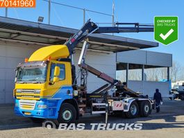 containersysteem vrachtwagen DAF CF 85.410 6X2 Steering Axle Crane Hiab 220-3 Euro 5 2008