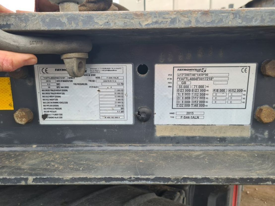 semi dieplader oplegger Faymonville 2015