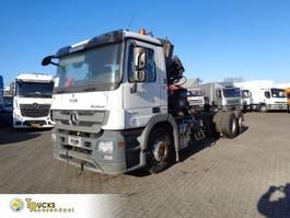 chassis cabine vrachtwagen Mercedes-Benz Actros 2541 + Euro 5 + Hiab Space 4000 engine broken 2010