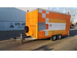 bakwagen aanhangwagen Brenderup Gesloten trailer met rioolreperatie machines 2000