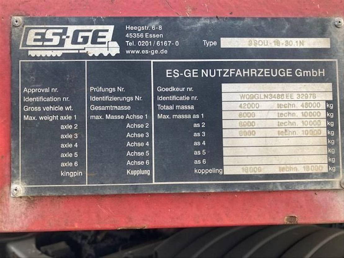 semi dieplader oplegger ES-GE 3.SOU-18-30.1N 2008